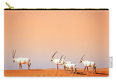 Carry-all Pouch featuring the photograph Arabian Oryx by Alexey Stiop