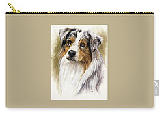 Australian Shepherd Carry-all Pouch by Barbara Keith