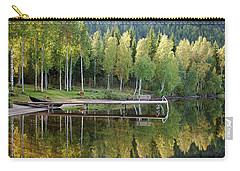 Birches And Reflection Carry-all Pouch by Aivar Mikko