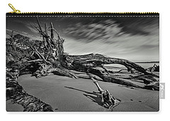 Carry-all Pouch featuring the photograph Black Rock Beach by Peter Lakomy