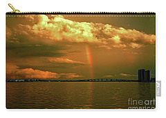 Carry-all Pouch featuring the photograph 3- Blue Heron Bridge by Rainbows