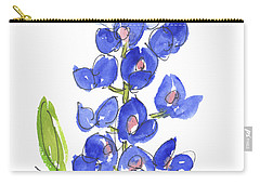 Bluebonnet Carry-all Pouch by Kathleen McElwaine
