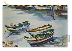Carry-all Pouch featuring the painting 3 Boats I by Xueling Zou