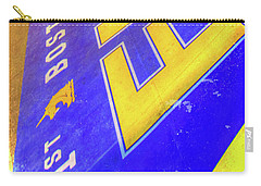 Carry-all Pouch featuring the photograph Boston Marathon Finish Line by Joann Vitali