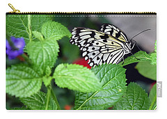 Paper Kite Butterfly No. 3 Carry-all Pouch by Sandy Taylor