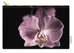 Close Up Shoot Of A Beautiful Orchid Blossom Carry-all Pouch