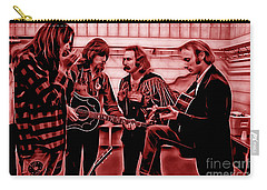 Crosby Stills Nash And Young Carry-all Pouch by Marvin Blaine
