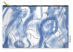 Carry-all Pouch featuring the digital art 3 Dancing Figures by Mary Armstrong