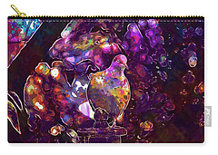 Carry-all Pouch featuring the digital art Dove Bird Feather Animal Plumage  by PixBreak Art