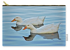 Carry-all Pouch featuring the photograph 3- Ducks by Joseph Keane