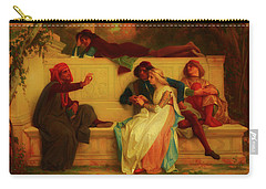 Carry-all Pouch featuring the painting Florentine Poet by Alexandre Cabanel