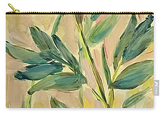 Carry-all Pouch featuring the painting 3 Flowers by Maria Langgle