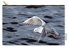 Flying Gull Carry-all Pouch by Michal Boubin