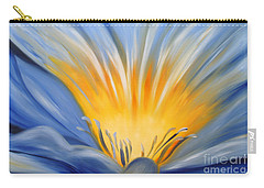 From The Heart Of A Flower Blue Carry-all Pouch