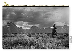 Carry-all Pouch featuring the photograph Grand Tetons by Hugh Smith