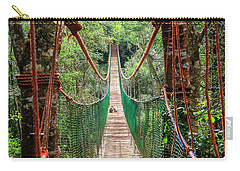Carry-all Pouch featuring the photograph Hanging Bridge by Alexey Stiop