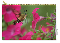 Carry-all Pouch featuring the photograph Hummer Moth by Heidi Poulin