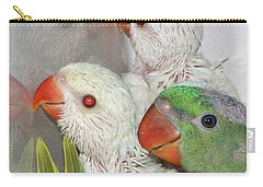 Carry-all Pouch featuring the photograph 3 Is Company 4 Is A Crowd by Debbie Stahre