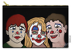 Carry-all Pouch featuring the digital art 3 Jesters by Megan Dirsa-DuBois