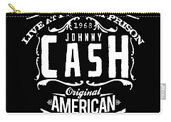Johnny Cash Carry-all Pouch by Hans Wolfgang Muller Leg