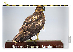 Carry-all Pouch featuring the photograph Juvenile Red-tailed Hawk by Ricky L Jones