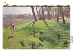 Landscape With Goatherd Carry-all Pouch by John Singer Sargent