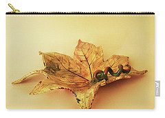 Leaf Plate1 Carry-all Pouch by Itzhak Richter