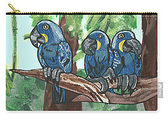3 Macaws Carry-all Pouch