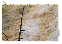 Carry-all Pouch featuring the photograph Mammoth Hot Spring Terraces by Michael Chatt