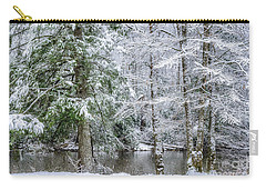 March Snow Along Cranberry River Carry-all Pouch