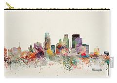 Minneapolis Minnesota Skyline Carry-all Pouch