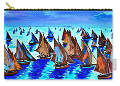 Monet Fishing Boats Calm Seas Carry-all Pouch