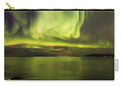 Northern Lights Reykjavik Carry-all Pouch by Gunnar Orn Arnason