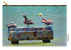 3 Pelicans Carry-all Pouch