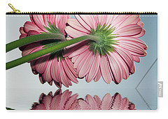 Pink Gerbers Carry-all Pouch by Elvira Ladocki