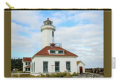 Carry-all Pouch featuring the photograph Point Wilson Lighthouse by E Faithe Lester