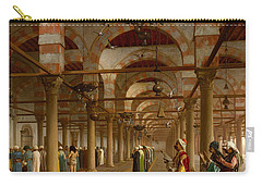 Prayer In The Mosque Carry-all Pouch by Jean-Leon Gerome
