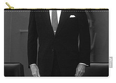 Carry-all Pouch featuring the photograph President Ronald Reagan by War Is Hell Store