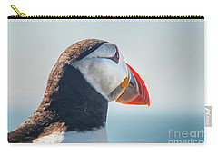 Carry-all Pouch featuring the photograph Puffin In Close Up by Patricia Hofmeester