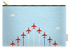 Raf Red Arrows In Formation Carry-all Pouch