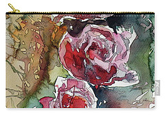 Carry-all Pouch featuring the painting Roses by Kovacs Anna Brigitta