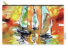 Sailboats Carry-all Pouch by Kovacs Anna Brigitta