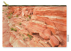Carry-all Pouch featuring the photograph Sandstone Wall In Valley Of Fire by Ray Mathis
