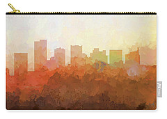 Carry-all Pouch featuring the digital art Scottsdale Arizona Skyline by Marlene Watson