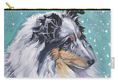 Shetland Sheepdog Carry-all Pouch by Lee Ann Shepard