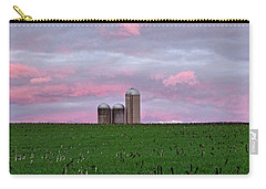 Carry-all Pouch featuring the photograph 3 Silos by Robert Geary