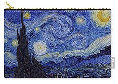 Carry-all Pouch featuring the painting Starry Night by Van Gogh