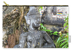 Statue Depicting A Thai Yoga Pose At Wat Pho Temple Carry-all Pouch