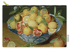 Still Life With Lemons, Oranges And A Pomegranate Carry-all Pouch