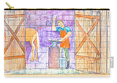 Carry-all Pouch featuring the photograph Street Art - Melba, Id by Dart and Suze Humeston